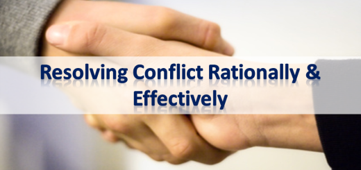 Resolving Conflict Rationally and Effectively